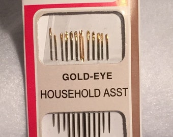 Hand sewing needles, various types