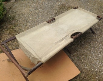 Rare: French military camp bed