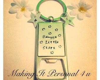 Personalised Bottle Opener Keychain