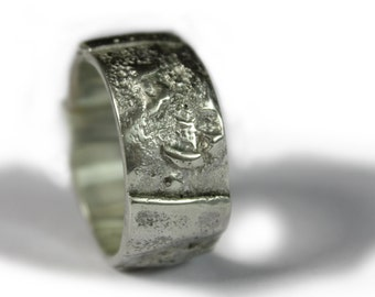Sterling Silver Ring for Her & Him -- Unique artistic design ring -- handmade