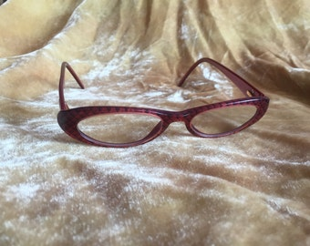 Authentic Chanel CC eyeglasses made in Italy Burgundy