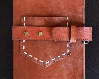 Notebook with leather pouch