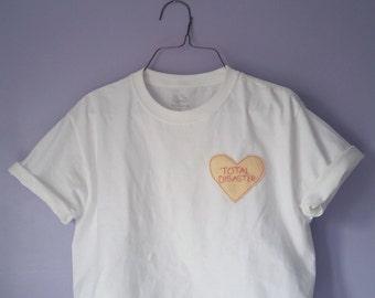Crop Top Conversation Heart T-shirt
