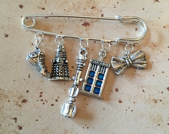 Space Doctor Charm Brooch