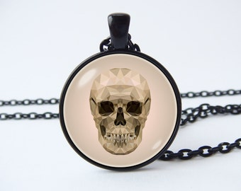 Skull necklace Bone pendant Skull jewelry Gothic necklace Steampunk necklace Human skull pendant Anatomic jewelry Gift for doctor Gift under