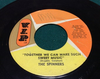 """The Spinners - """"Together We Can Make Sweet Music/It's a Shame"""" nm 45"""