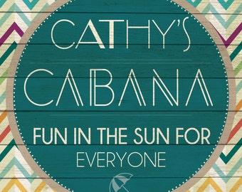 Custom Cabana Sign Digital Download