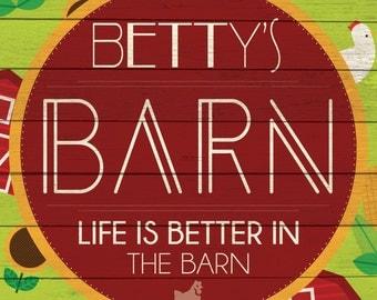 Custom Barn Sign Digital Download