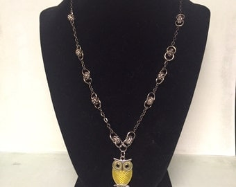 You are My Sunshine - Yellow Owl Charm Necklace