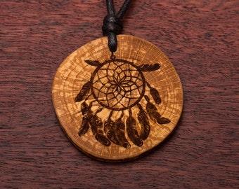 Dream catchers, wood necklace, 3-6 cm, unique