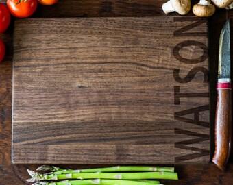 custom cutting board personalized cutting board monogram wedding gift anniversary bridal