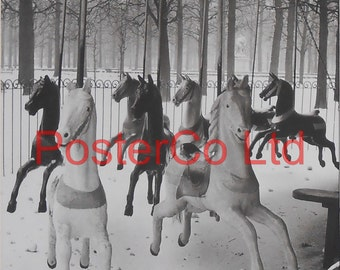 "Izis (Israëlis Bidermanas), Jardin des Tuileries / Tuileries garden (Funfair), 1950 (Framed Picture 16"" x 12 "")"