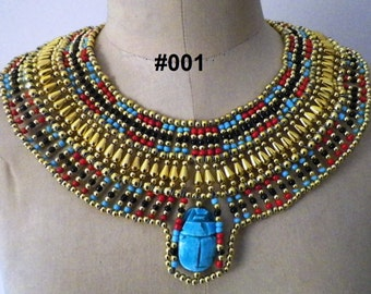 Egyptian Queen Cleopatra style Pharaoh's Necklace/Collar Handmade