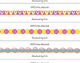 Candy Shop Dishcloth/Washcloth Wraps - PDF FILE ONLY
