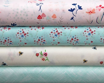 Paperie Fabric Bundle, Floral Fabric Bundle, Art Gallery Fabric, Fat Quarter Bundle, Half of a Metre Fabric, Quilting Fabric
