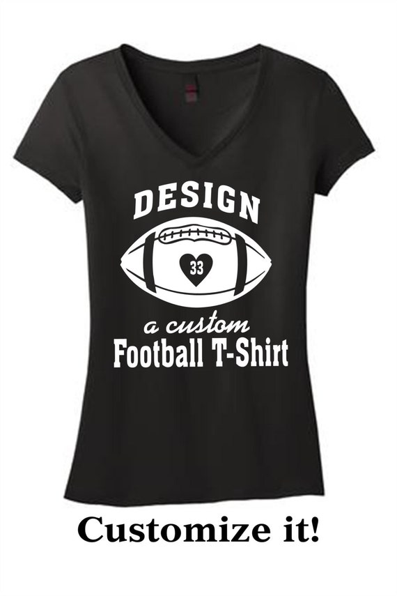 Items similar to custom football t shirt on etsy for Personalized football t shirts