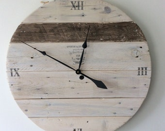 Large Reclaimed Wood Clock
