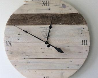 Large Reclaimed Wood Clock