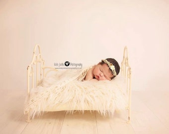 newborn iron bed posing prop