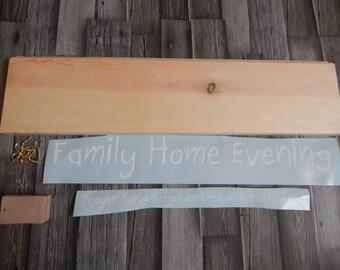 Family Home Evening Kit...Family Night Kit...DIY Kit...Family Home Evening Board