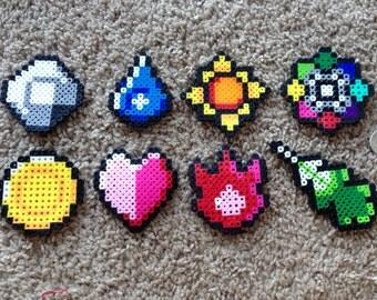 Pokemon Kanto Badges Perler Bead