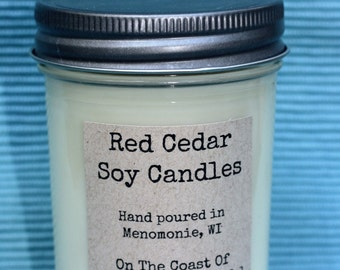 On The Coast Of Somewhere Beautiful Soy Wax Jelly Jar Candle 8 OZ