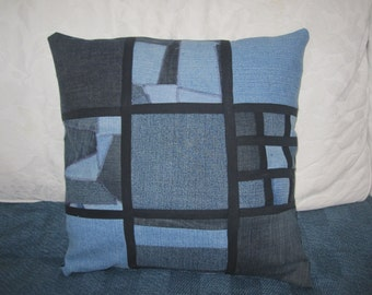 SALE!! Patchwork denim cushion cover
