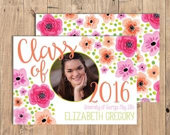 Photo Graduation Announcement Printable