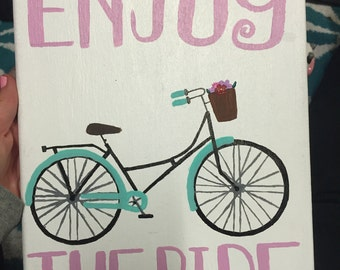 Enjoy the ride bike canvas