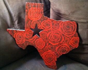 Customized wooden texas