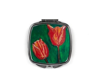 """Compact mirror """"Tulips"""""""
