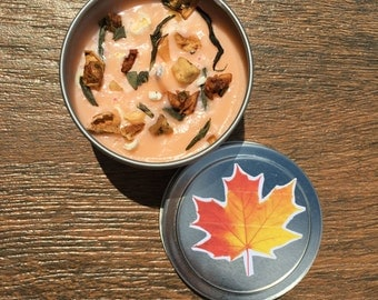 Sugared maple candle