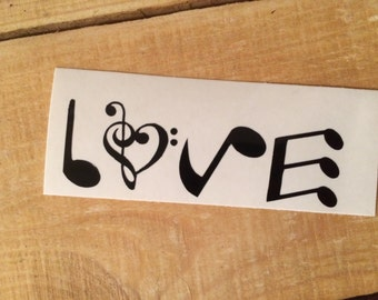 Love music notes decal