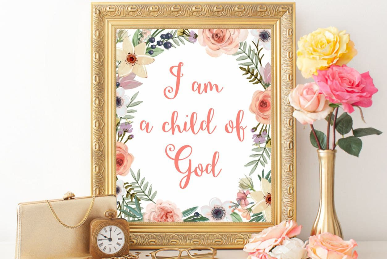 Christian Wall Decor For Nursery : Bible verse art nursery printable christian wall