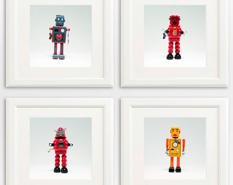 Robots - set of 4 square