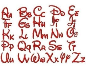 Disney Embroidery Font, Instant Download, 4 Sizes, PES Format