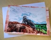 Art card / Encaustic Art, Maxwell's Otter