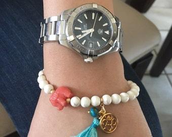 Syntetic Turquoise Bracelet