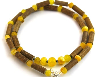 "16"" Hazelwood & Milk and Butter Baltic Amber Necklace"