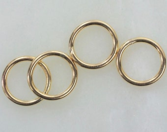 5.5mm 14k Gold Filled 20ga CLOSED Jump Rings, Made in the USA