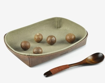 Desk Tray, Key Tray, Coin Tray, Jewelry Tray, Desk Organizer, Home Decor, Horsehair Pattern, Brown
