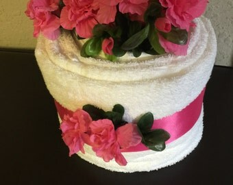 "Towel Cake ""Pretty With PinK"""