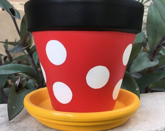Minne Mouse Inspired flower pot