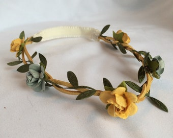 Blue and yellow baby Garland