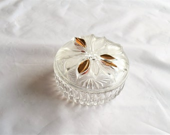 Glass Jewelry Box/ Jewelry Dish/Keepsake Trinket Box