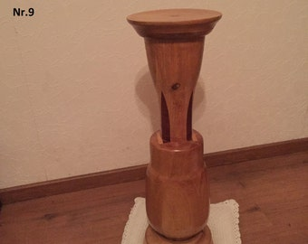 Solid wood flower pot stand