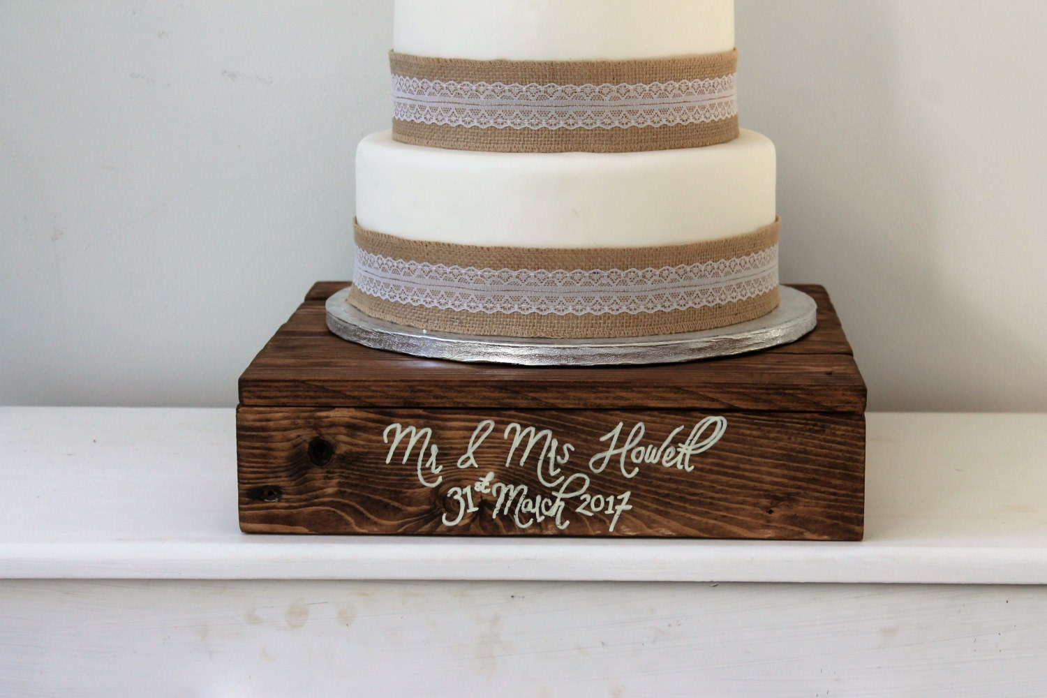 wooden cake stands for wedding cakes wedding cake stand wooden cake stand by coachhousewoodworks 27589