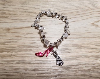10 Pieces - Diva Bracelets with high heel and dress charms party favors