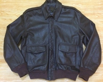 WILLIS & GEIGER INC. Type A-2 Leather WW2 Flying Jacket
