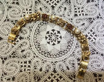Vintage Book Link Bracelet